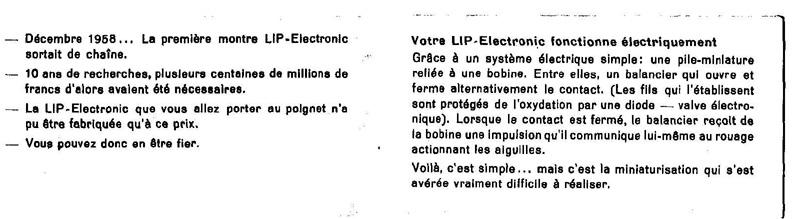 La notice de la Lip électronique... Lipnot2