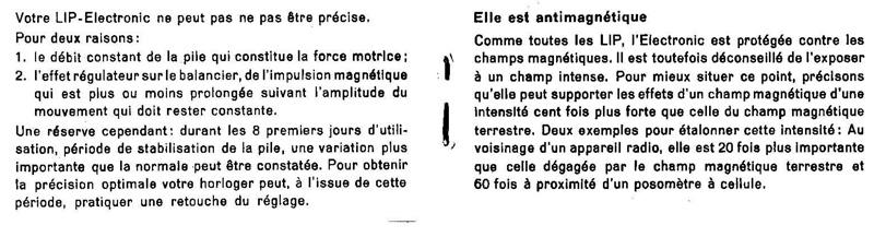 La notice de la Lip électronique... Lipnot4